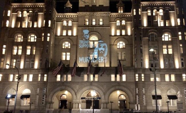 واجهات مباني سفارات الإمارات والسعودية بأمريكا تُضاء بظلال خاشقجي