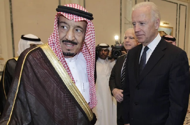 محادثة الرئيس الأمريكي مع الملك سلمان