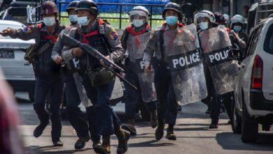 استمرار المظاهرات في ميانمار