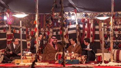 ديفيد كاميرون خيَم مع ولي عهد السعودية
