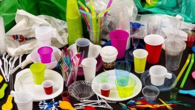 أطباق البلاستيك