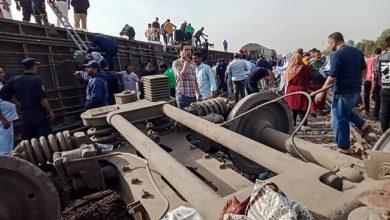 100 جريح بحادث قطار شمال القاهرة