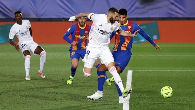 مباراة ريال مدريد و برشلونة