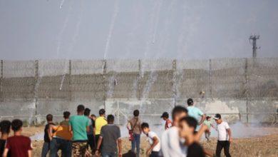 إصابة العشرات في إطلاق النار على متظاهرين في غزة